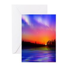 Sunrise Over The Water Greeting Cards