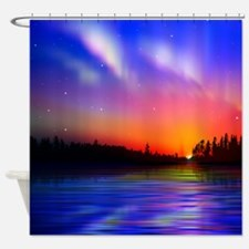 Sunrise Over The Water Shower Curtain