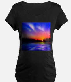Sunrise Over The Water Maternity T-Shirt