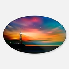 Sunrise Over The Sea And Lighthouse Decal