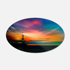 Sunrise Over The Sea And Lighthouse Wall Decal