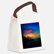 Sunrise Over The Sea And Lighthouse Canvas Lunch B