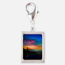 Sunrise Over The Sea And Lighthouse Charms