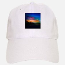 Sunrise Over The Sea And Lighthouse Baseball Baseball Baseball Cap