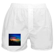 Sunrise Over The Sea And Lighthouse Boxer Shorts