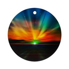 Sunset Over The Water Ornament (Round)