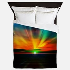 Sunset Over The Water Queen Duvet