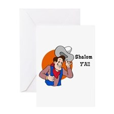 JEWISH SHALOM Y'ALL Greeting Card