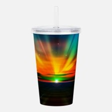 Sunset Over The Water Acrylic Double-wall Tumbler