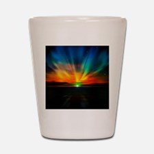 Sunset Over The Water Shot Glass
