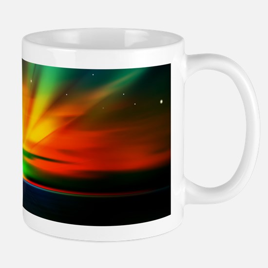 Sunset Over The Water Mugs