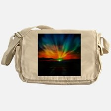 Sunset Over The Water Messenger Bag