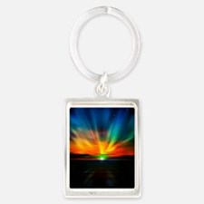 Sunset Over The Water Keychains