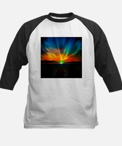 Sunset Over The Water Baseball Jersey