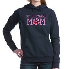 St. Bernard Mom Women's Hooded Sweatshirt