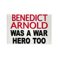 Cute Benedict arnold war hero too Rectangle Magnet
