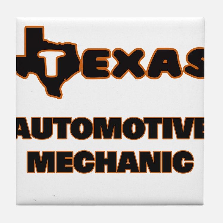 Texas Automotive Mechanic Tile Coaster