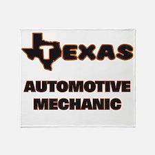 Texas Automotive Mechanic Throw Blanket