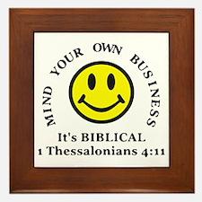 Mind Your Own Business, It's BIBLICAL Framed Tile