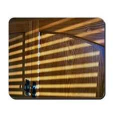 Sunbeams On Wooden Cabinet Mousepad