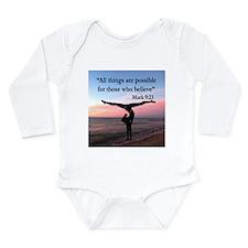 GYMNAST MARK 9:23 Long Sleeve Infant Bodysuit