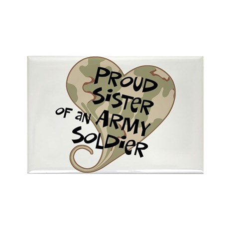 Proud sister Army soldier Rectangle Magnet (100 pa