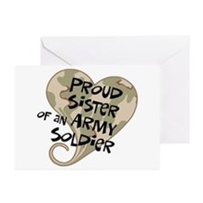 Proud sister Army soldier Greeting Cards (Pk of 10