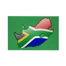 """""""South Africa Bubble Map"""" Rectangle Magnet"""
