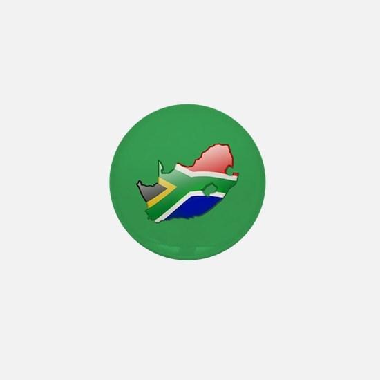"""South Africa Bubble Map"" Mini Button"