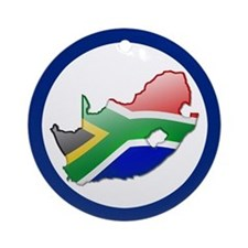 """""""South Africa Bubble Map"""" Ornament (Round)"""