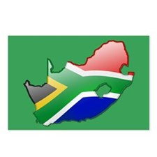 """""""South Africa Bubble Map"""" Postcards (Package of 8)"""
