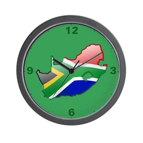 Quotsouth africa bubble mapquot wall clock by thelaststraw for Modern wall clocks south africa