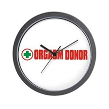 Orgasm Donor - Rectangle logo Wall Clock