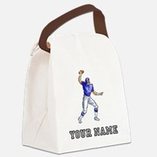 Football Player (Custom) Canvas Lunch Bag