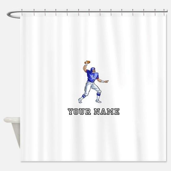 Football Player (Custom) Shower Curtain