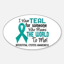 Interstitial Cystitis MeansWorldToM Sticker (Oval)