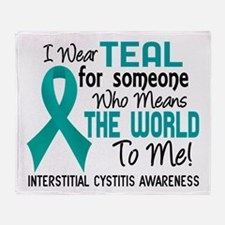Interstitial Cystitis MeansWorldToMe Throw Blanket