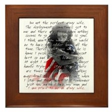 ARMY WIFE POEM Framed Tile