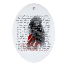 ARMY WIFE POEM Oval Ornament