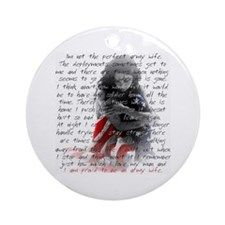 ARMY WIFE POEM Ornament (Round)