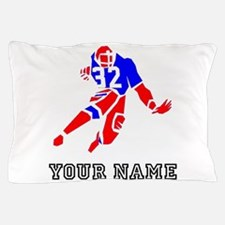Red And Blue Running Back (Custom) Pillow Case