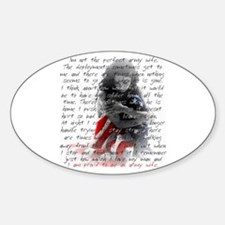 ARMY WIFE POEM Oval Decal