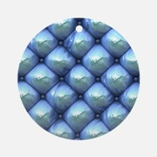 Silky Reflection blue Ornament (Round)