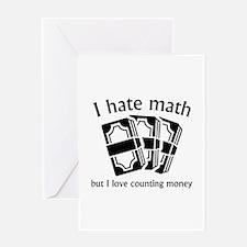 I Hate Math Greeting Card