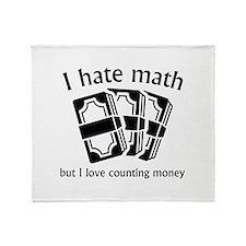 I Hate Math Stadium Blanket
