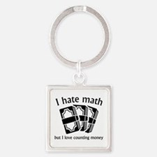 I Hate Math Square Keychain