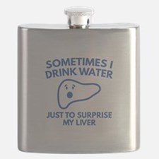 Sometimes I Drink Water Flask