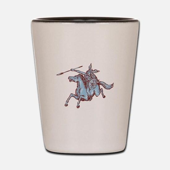 Valkyrie Warrior Riding Horse Spear Etching Shot G