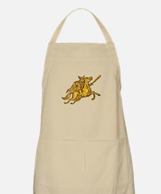 Valkyrie Warrior Riding Horse Sword Etching Apron
