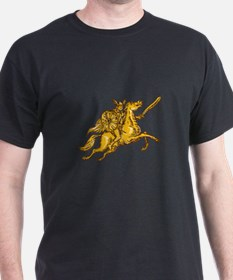 Valkyrie Warrior Riding Horse Sword Etching T-Shir